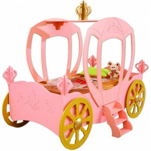 Princess Carriage Toddler Car Bed by Plastiko