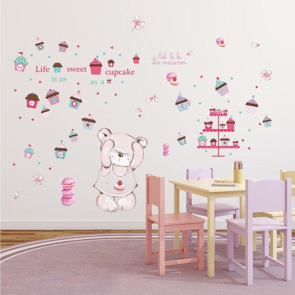 Hindsboro Macaron Bear Internal Nursery Wall Decal by Zoomie Kids