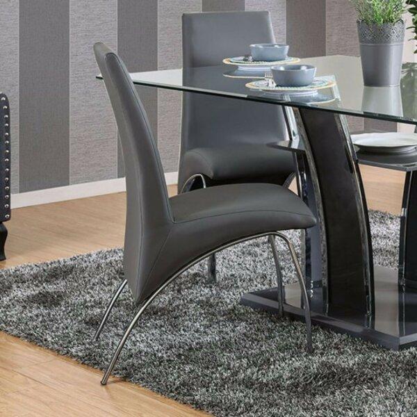 Mira Monte Steel Tube Solid Wood Dining Chair (Set of 2) by Orren Ellis