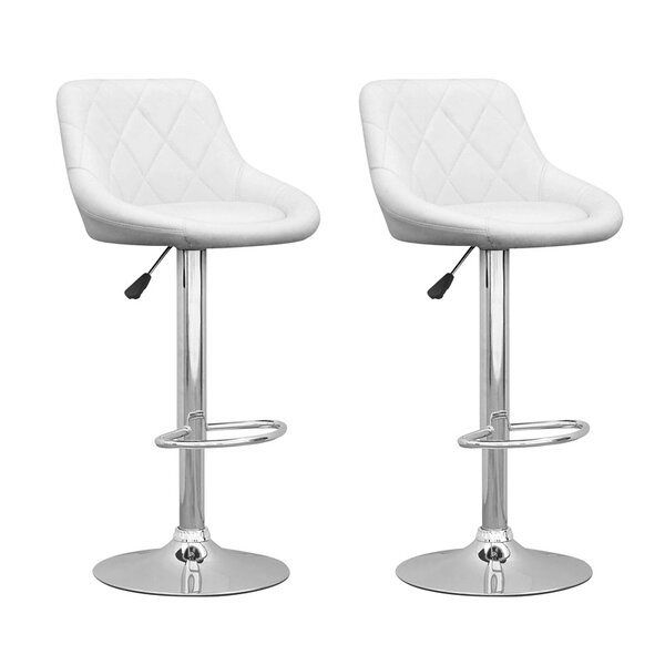 Deem Adjustable Height Swivel Bar Stool (Set of 2) by Orren Ellis
