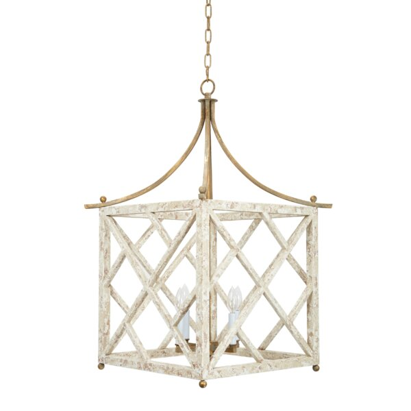 4 - Light Lantern Square Chandelier by Old World Design Old World Design