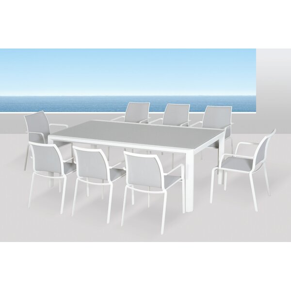Houston Glass Top Extension Dining Table by Orren Ellis