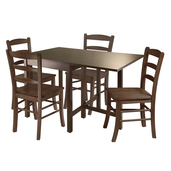 Torrance 5 Piece Drop Leaf Dining Set by Red Barrel Studio
