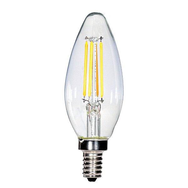 3.5W E12 Candelabra LED Vintage Filament Light Bulb by Satco