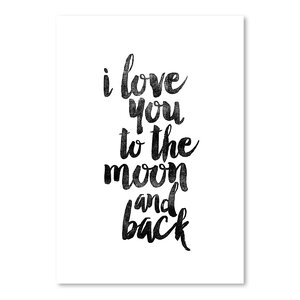 'I Love you to the Moon and Back' Print by Viv + Rae