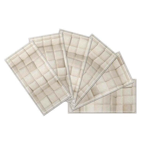 Crystal 3 x 6 Beveled Glass Subway Tile in Gray by Upscale Designs by EMA