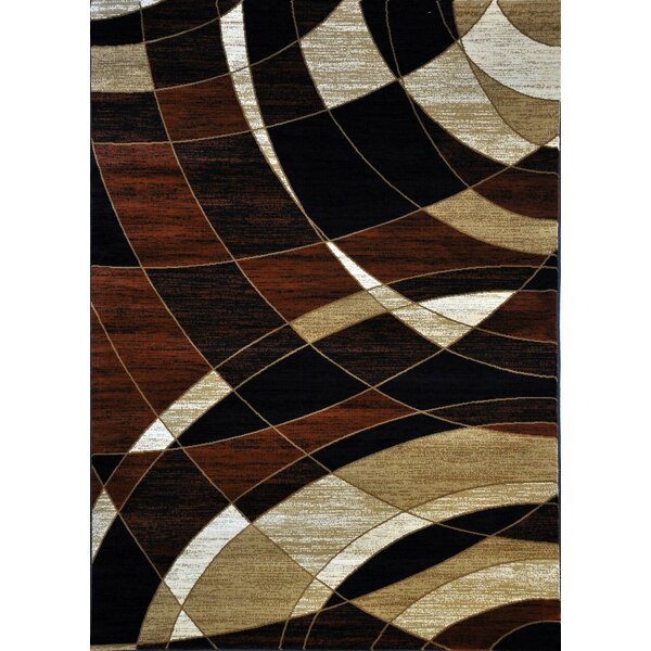 Cotton Brown Area Rug by Ebern Designs