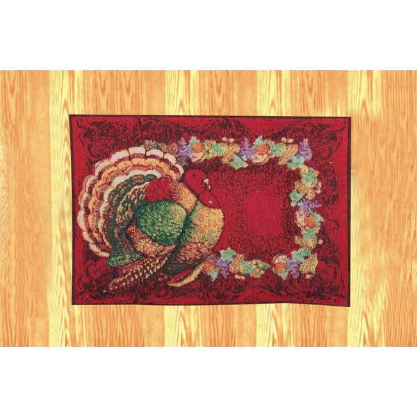 Thanksgiving Fall Harvest Tapestry Turkey Placemat (Set of 4) by Violet Linen