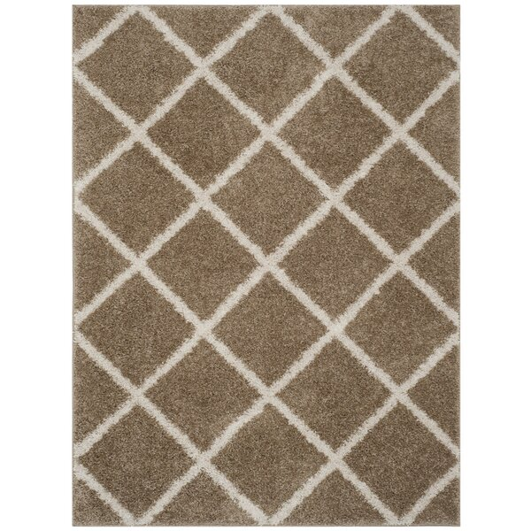 Helsel Dark Beig Area Rug by Wrought Studio