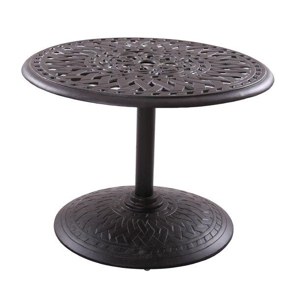Goncalvo Aluminum Chat Table by Fleur De Lis Living