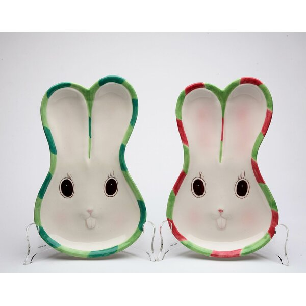 Bunnies Forever Plate (Set of 2) by Cosmos Gifts