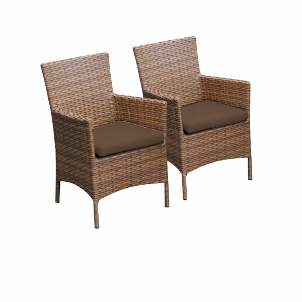 Laguna Patio Dining Chair with Cushion (Set of 2) by TK Classics