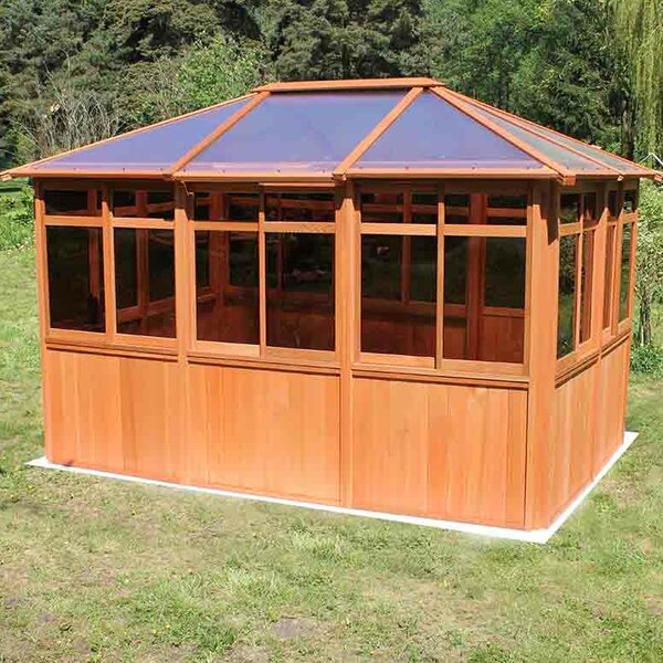 Solarus 8.5 Ft. W x 12.5 Ft. D Solid Wood Patio Gazebo by Westview Manufacturing