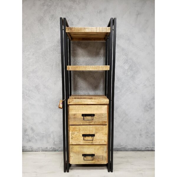 Morganton Mango Wood Tall Rack Etagere Bookcase By Foundry Select Herry Up