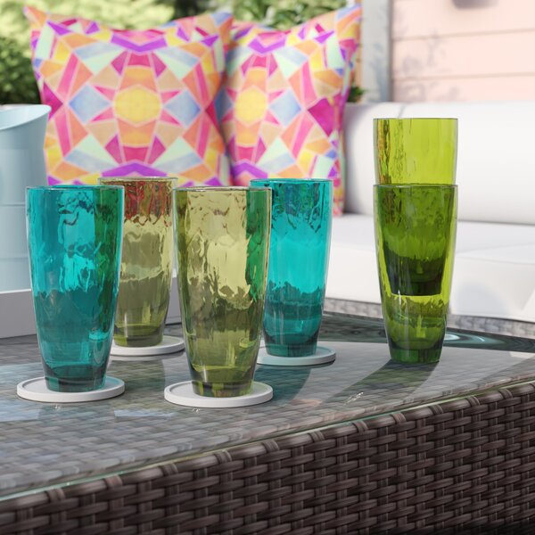 Stansel 6-Piece 23 oz. Plastic Drinking Glass Set by Latitude Run
