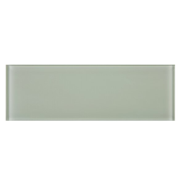 4 x 12 Glass Tile in Gray by Multile