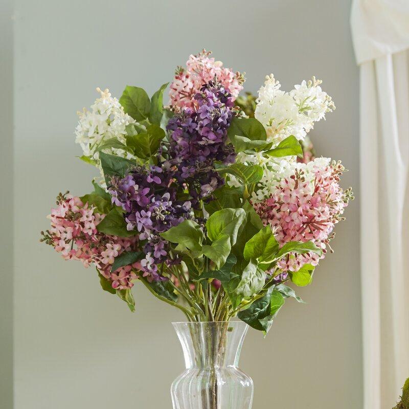 Glenham lilac silk flower arrangement reviews birch lane glenham lilac silk flower arrangement mightylinksfo