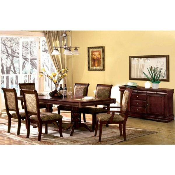 Pitre Transitional 7 Piece Solid Wood Dining Set by Charlton Home