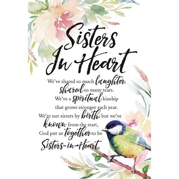 Woodland Grace Sisters In Heart Textual Art on Wood by Dexsa