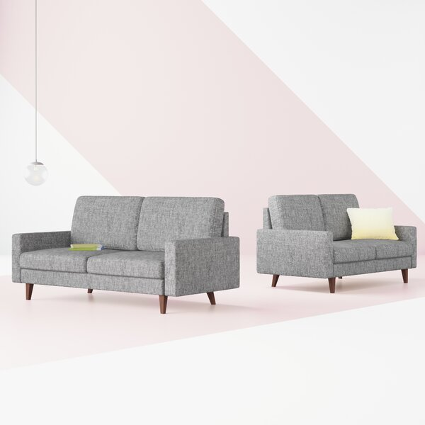 McKenly Modern 2 Piece Living Room Set (Set of 2) by Hashtag Home
