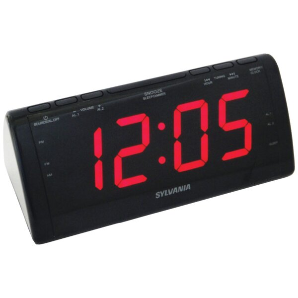 Jumbo-Digit Tabletop Clock by Sylvania