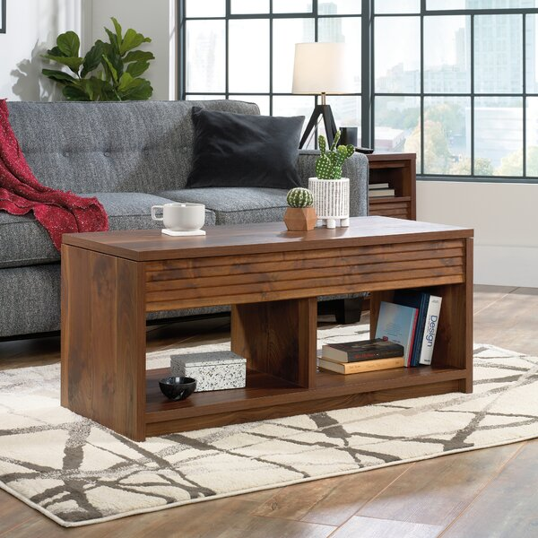 Vesta Lift Top Floor Shelf Coffee Table With Storage By Millwood Pines