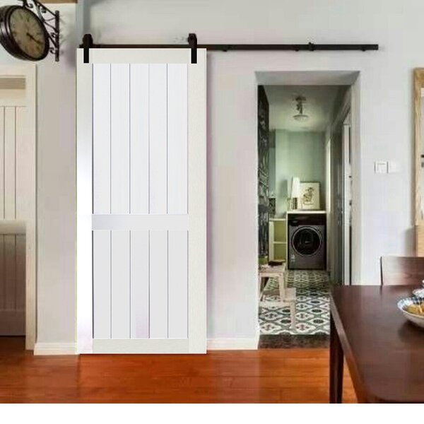 2-Panel Solid Wood Panelled Core Pine Slab Interior Barn Door by Kimberly Bay