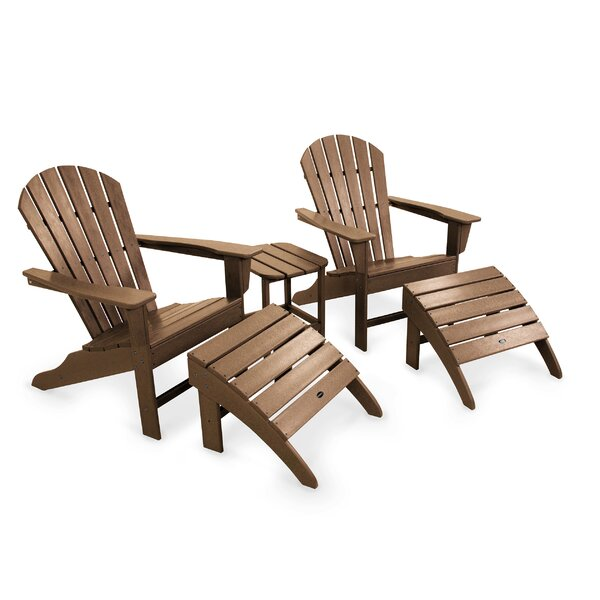 South Beach Adirondack 5 Piece Seating Group by POLYWOOD®