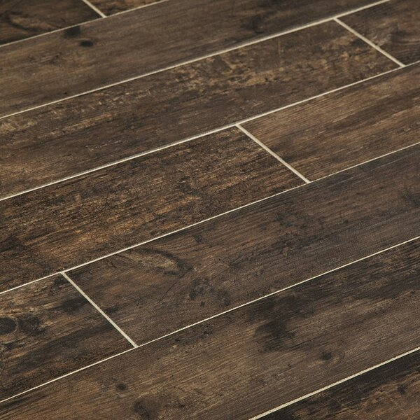 Chalet 6 x 36 Porcelain Wood Look Tile in Wenge by Manor