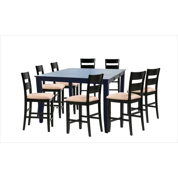 Bennet 9 Piece Counter Height Extendable Solid Wood Dining Set By Alcott Hill