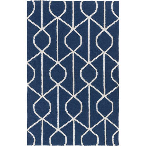 Murrill Hand-Woven Blue Area Rug by Ebern Designs