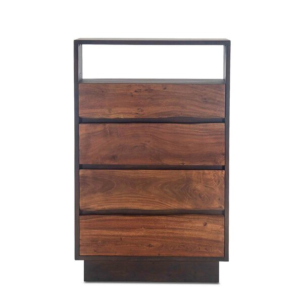 Woodbury Acacia Wood 4 Drawer Dresser by Foundry Select