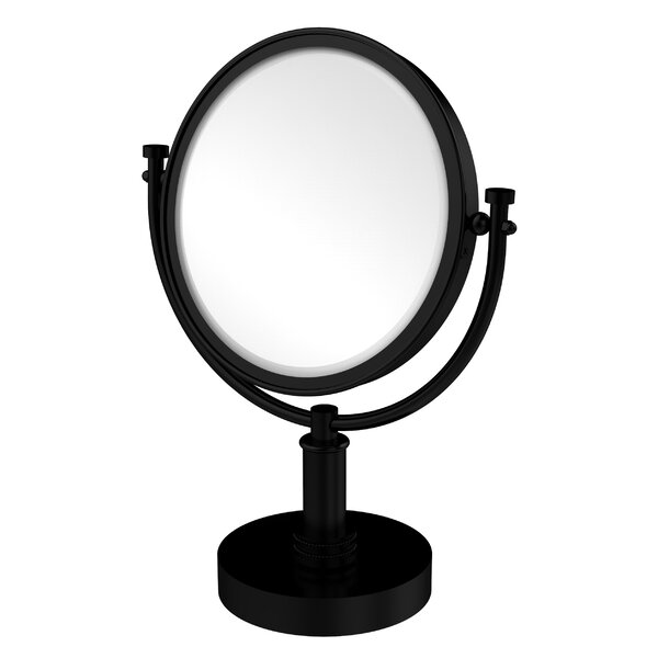 Vanity Top Make-Up Magnification Mirror with Dotted Detail by Allied Brass