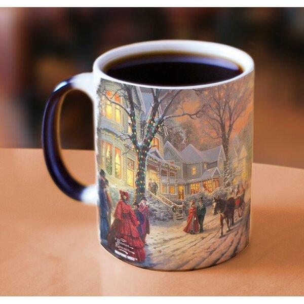 Thomas Kinkade A Victorian Christmas Heat Reveal Coffee Mug by Morphing Mugs