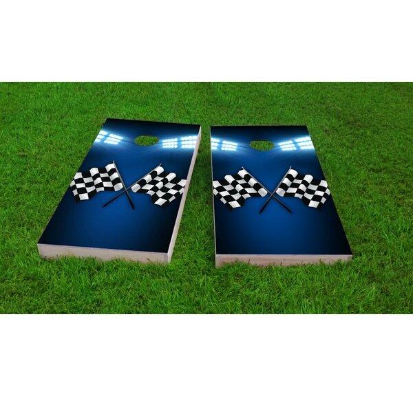 Checkered Flag Cornhole Game Set by Custom Cornhole Boards