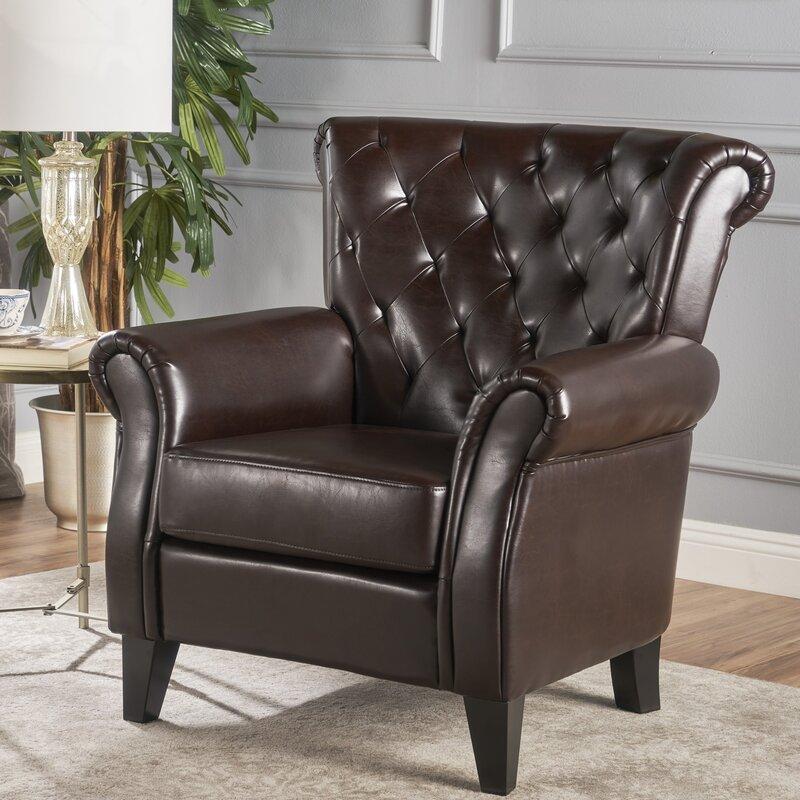 Attractive Prague Tufted Club Chair