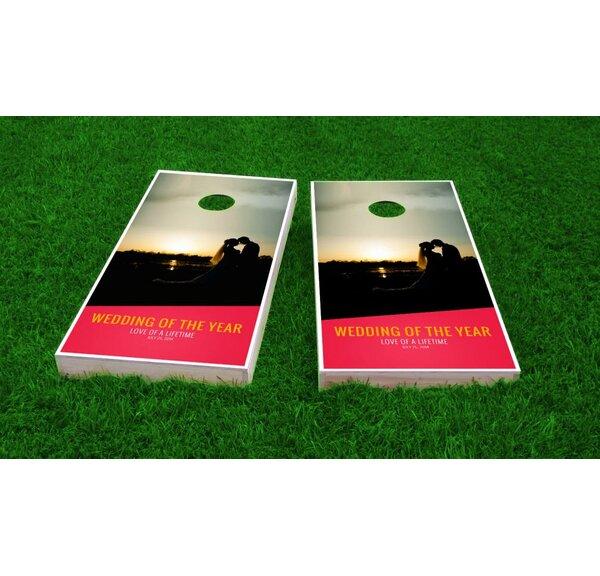 Wedding Sunset Cornhole Game (Set of 2) by Custom Cornhole Boards