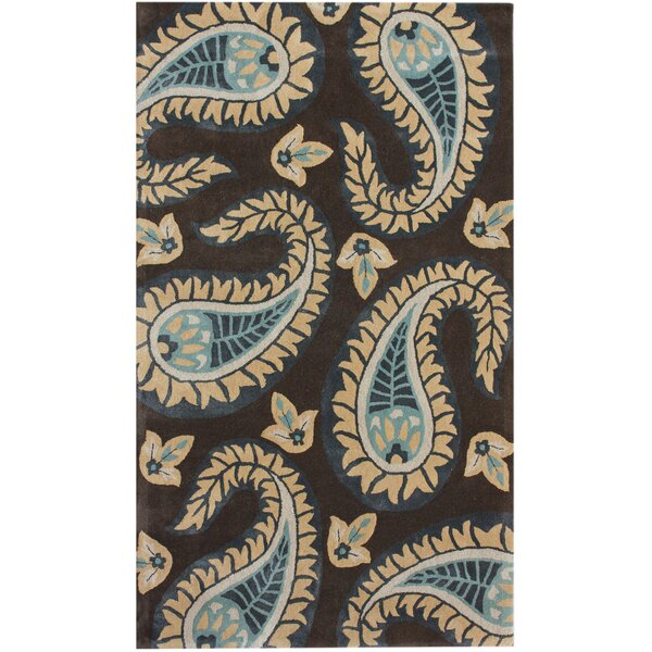 Modella Floral Paisley Hand-Tufted Brown/Tan Area Rug by nuLOOM