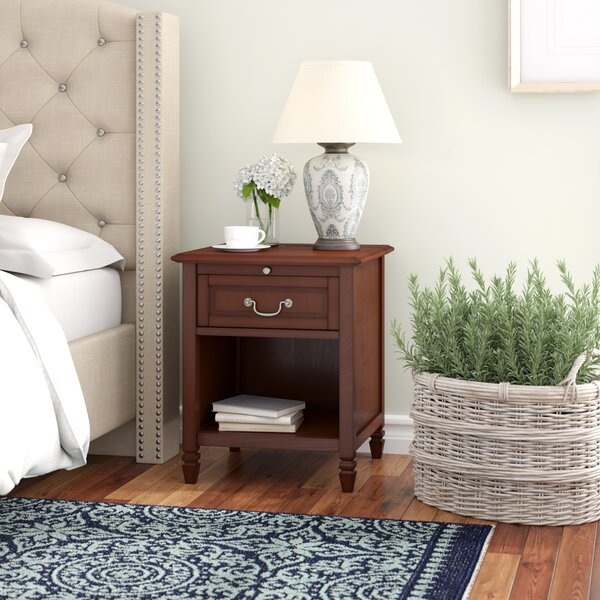 Leeroy 1 Drawer Nightstand by Three Posts