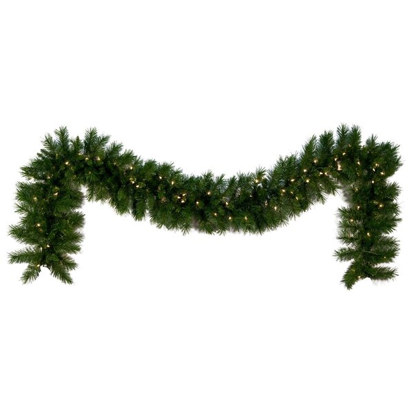 Dunhill Fir Prelit Holiday Garland by Kringle Traditions