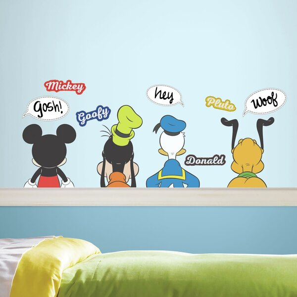Mickey and Friends Peel and Stick Wall Decal by Room Mates