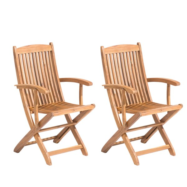 Glenbrook Folding Patio Dining Chair (Set of 2) by August Grove