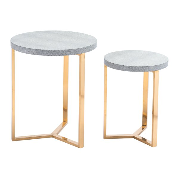 Laverock 2 Piece Nesting Table by Everly Quinn