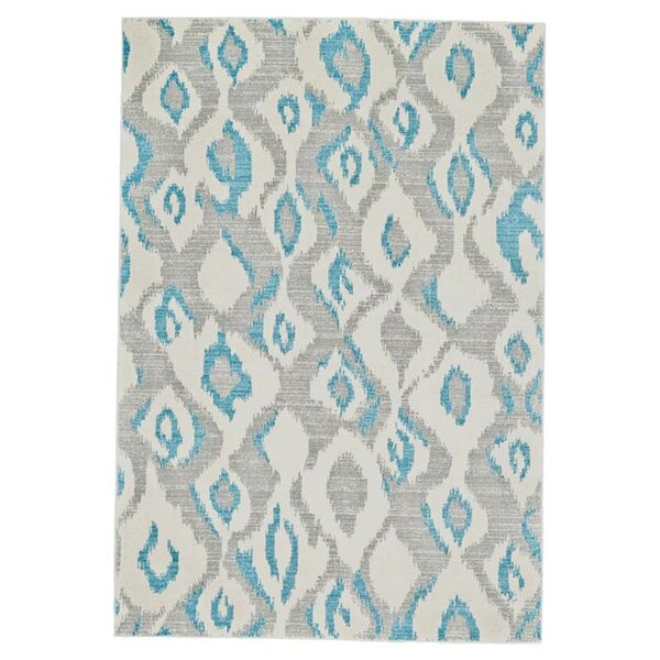 Arely Gray/Blue Area Rug by Zipcode Design