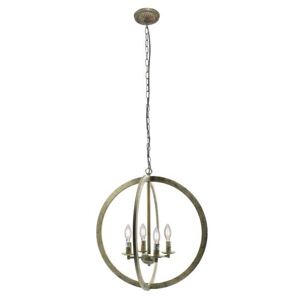 Westphalia 4 - Light Unique / Statement Globe Chandelier by Bungalow Rose Bungalow Rose