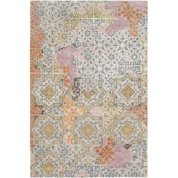 Landreth Hand Tufted Wool Teal/Khaki Area Rug by Bloomsbury Market
