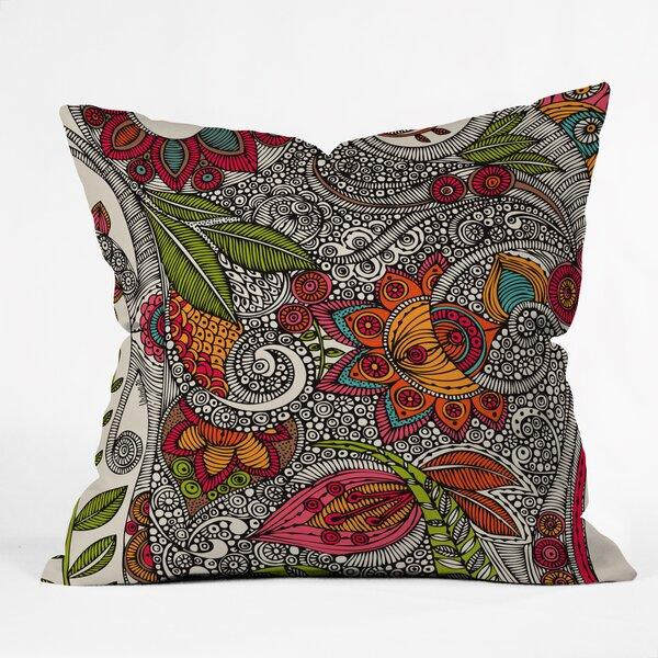 Valentina Ramos Random Flowers Throw Pillow by Deny Designs