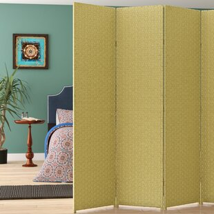 Compare prices Bhatia 6 Panel Room Divider By World Menagerie