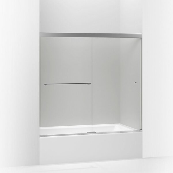 Revel 59.63'' x 55.5'' Double Sliding Semi-Frameless with CleanCoat® Technology by Kohler