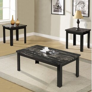 Reviews Sun Coffee and End Table Set (Set of 3) By Ebern Designs